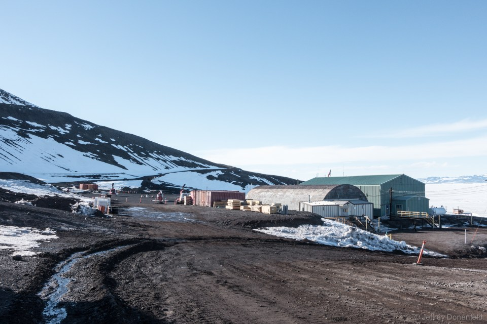 Another view of McMurdo's helo pad - it has multiple landing spots, as well as a fully enclosed hangar