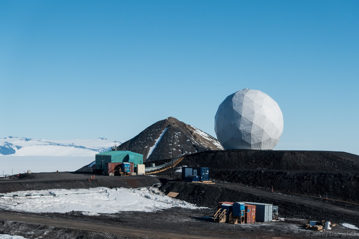 Tracking Satellites in McMurdo at NASA's Near Earth Network Ground Station