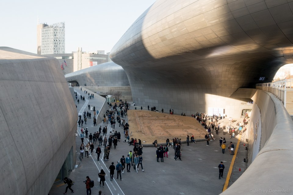 The Dongdaemun Design Plaza, home of Seoul Fashion Week.