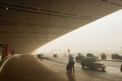 Arriving in Beijing was certianly a wakeup. As soon as I stepped out of the terminal, I was hit with dense, choking smog that could be seen from as little as 20 feet away. The air smelled like burning, and I could taste a fine grit. Certainly not great - but this was a 200 AQI day - mid-levels of pollution for Beijing.