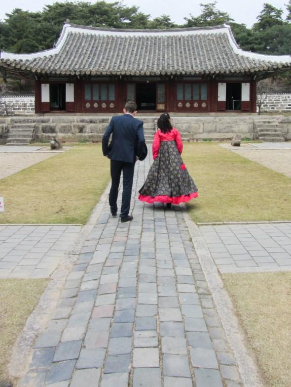 Strolling around the Koryo History Museum.