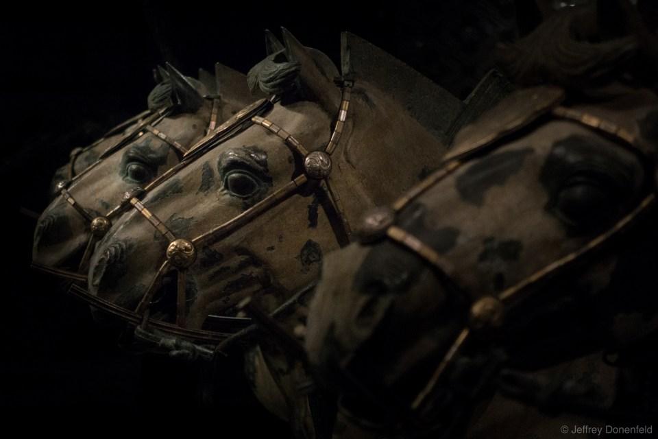 Terracotta horses, preserved in the musem.