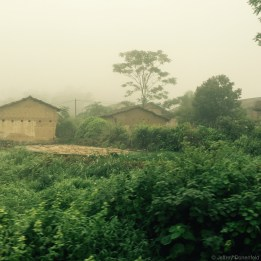 Clouds of pollution from Chinese manufacturing turn the otherwise quaint countryside into a toxic wasteland.
