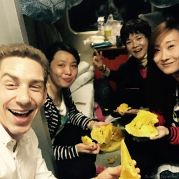 Riding the overnight train from Shanghai into Hong Kong, I made friends with my cabinmates, and ended up hanging out with them quite a bit during the long train ride. Lots of fun!