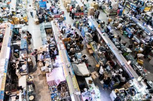 Each stall represents a different electronic supplier, factory, or component manufacturer. They're divided up into sections and floors, depending on what they make or sell.