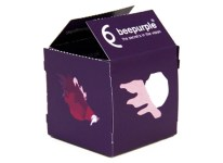 BeePurple - Flyer folded into box