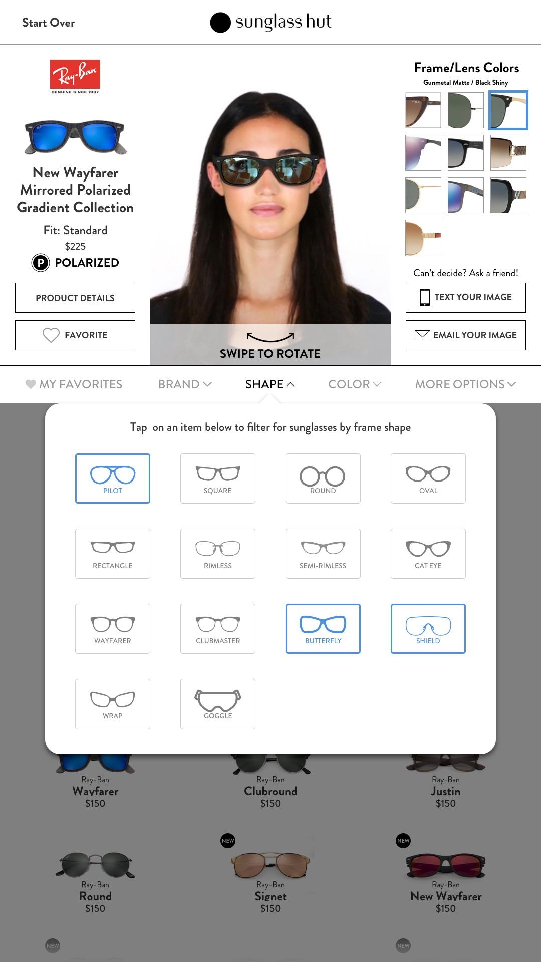 Kiosk – Filter by Frame Shape