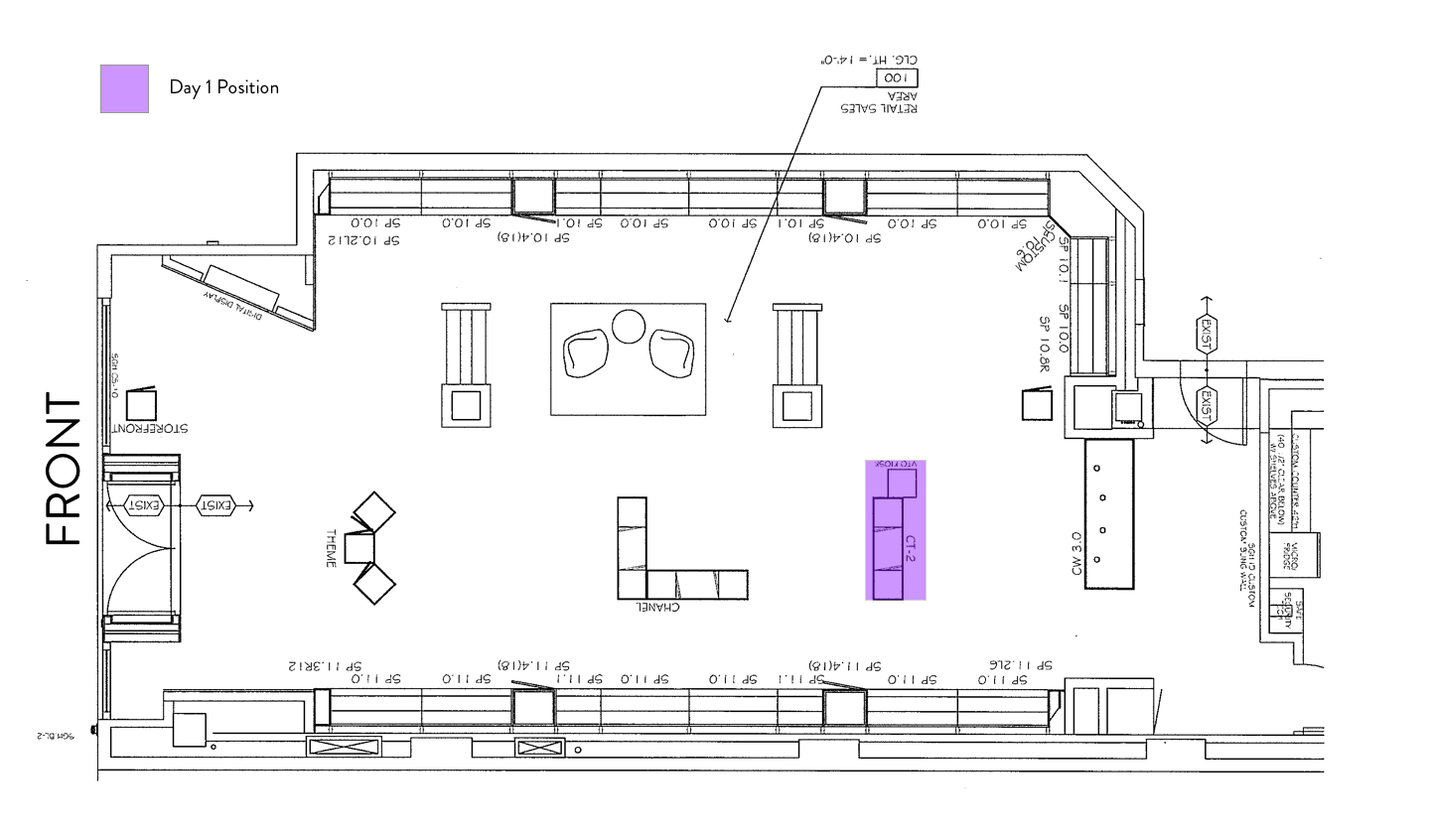 Sunglass Hut Floorplan – Kiosk – Day 1