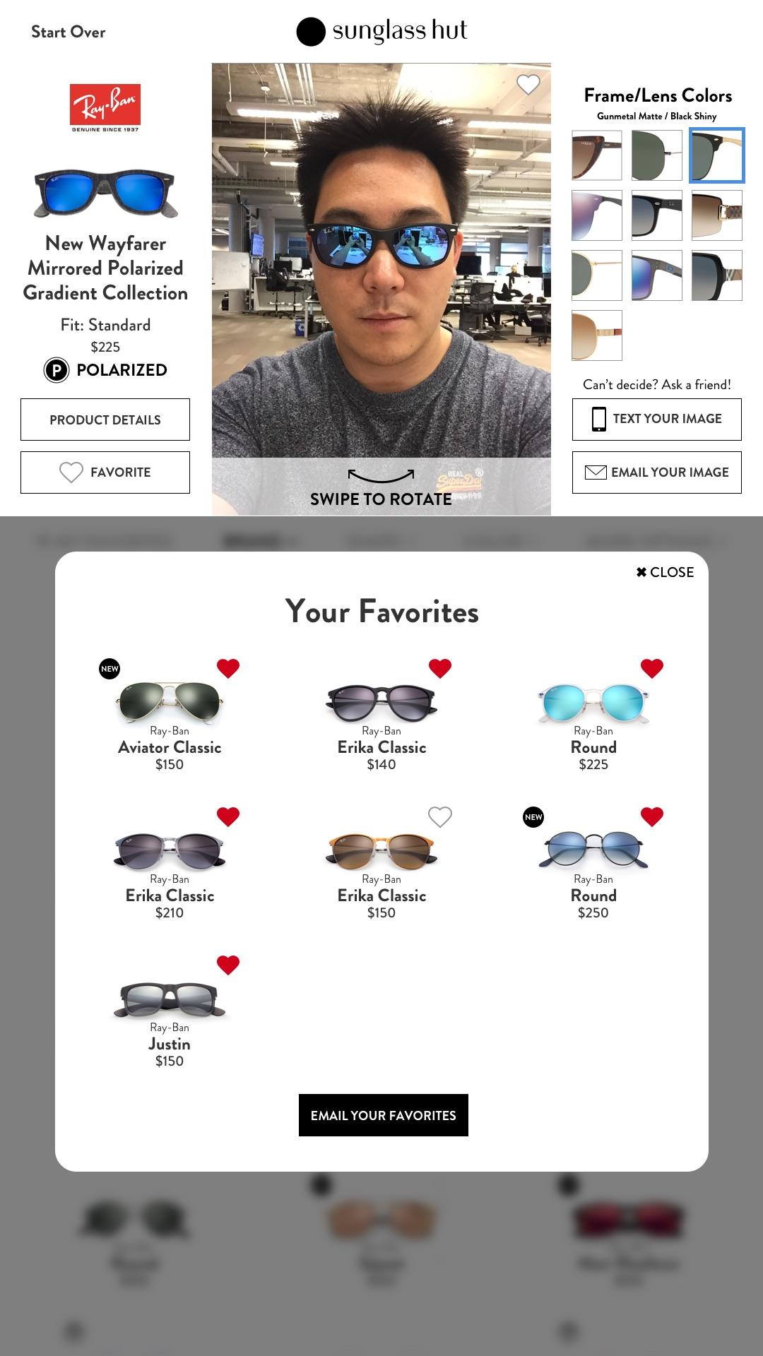 VTO Browser – View Favorites