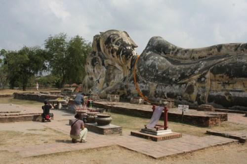 Reclining Buddha at Wat Lukaya Suttha, Ayutthaya, Thailand