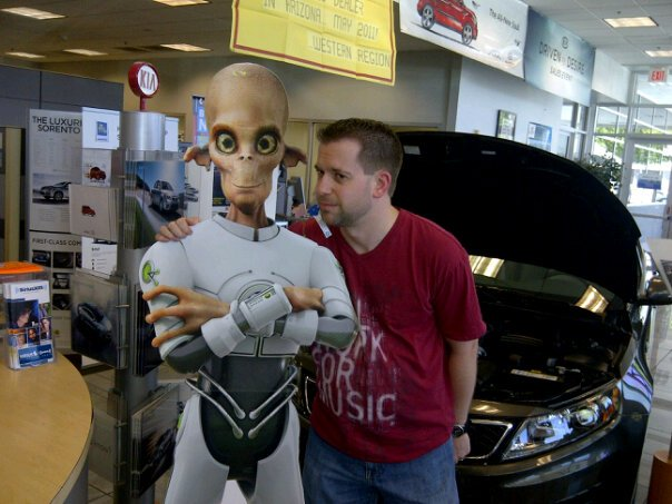 I bumped into this dude at the Kia dealership when I was endorsing their Optima.
