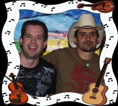 Brad Paisley and some festive drawn guitars.