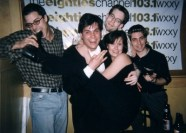 Frank, pimp-daddy Steve Mengarelli, me, JoAnn, and street-teamer Camps at BUZZ.