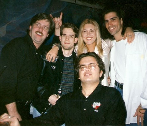 A LOT of time was spent in nightclubs. (Mamma, me, Jessie, Jamie and Rich the Freak up front)