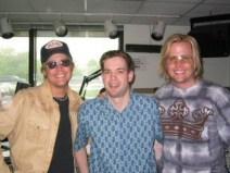Matthew & Gunnar Nelson hanging out in studio (sans-hair!)