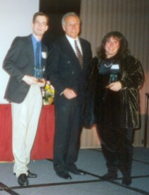 Scary, but I actually won some awards! Here's the 97 AIR Awards. Ken Matz from NBC-10 gave me and Lucy St. James of Y100 our awards.