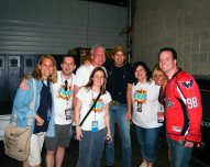 The gang with Rodney Atkins at WMZQfest.
