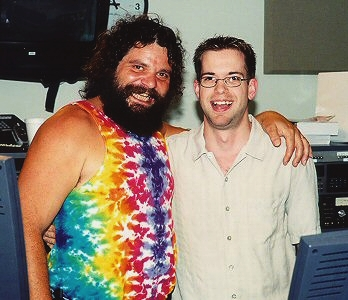 """BIG RUPE! Indy's own Rupert Boneham from """"Survivor: Pearl Islands"""" dropped in."""
