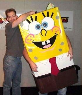 Jeffro, meet SpongeBob (aka Producer Doug on Halloween)!