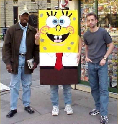 We paid this dude to pose with us on Michigan Ave.