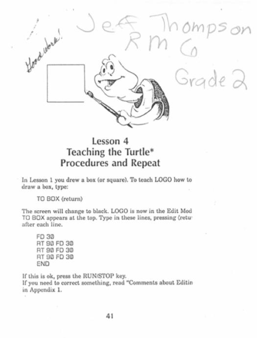 LogoLesson4_TeachingTheTurtleProceduresAndRepeat