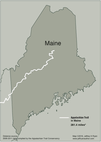 Appalachian Trail In Maine Map.Map Of Appalachian Trail In Maine Jeff Ryan Author Speaker