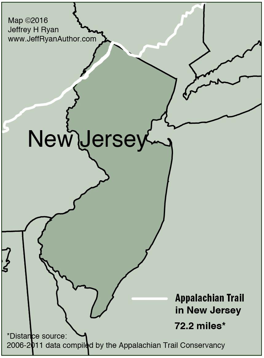 Map of Appalachian Trail in New Jersey   Jeff Ryan, Author & Speaker
