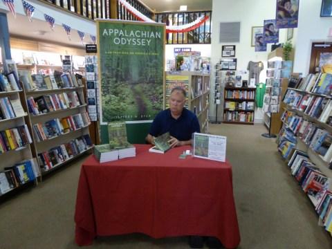 Photo of author Jeffrey Ryan signing books