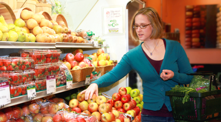 Woman Picking Out Fruit in Supermarket has made her much-sought endorsement.