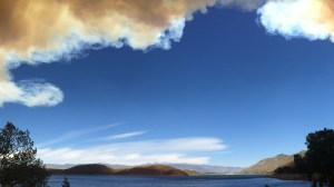 Washington Fire from Topaz Lake