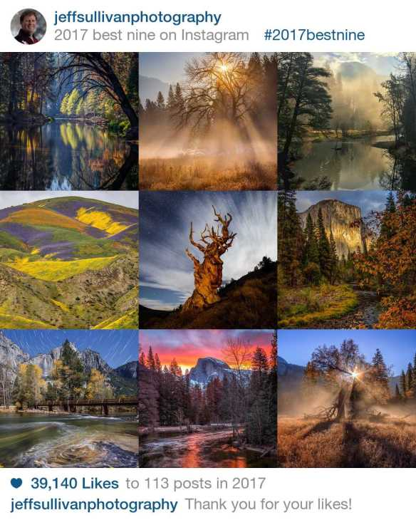 2017 Best Nine photographs from California