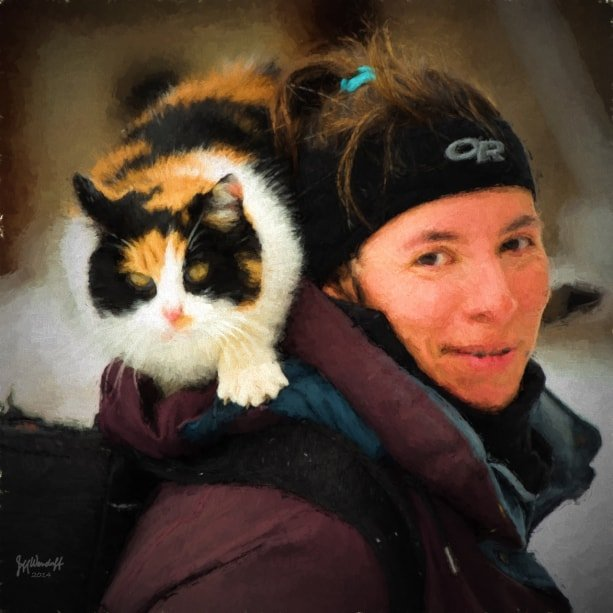 A girl and her cat painted with Topaz Impression - Rembrandt Portrait I by Jeff Wendorff