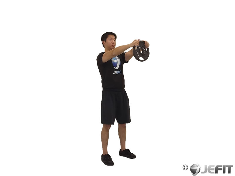 Weight Plate Front Raise Exercise Database Jefit