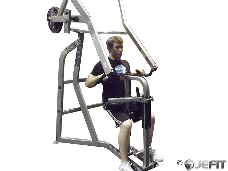 Leverage Machine High Row Exercise Database Jefit