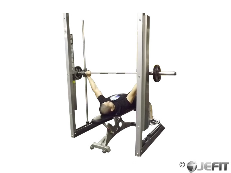 Smith Machine Wide Grip Bench Press Exercise Database