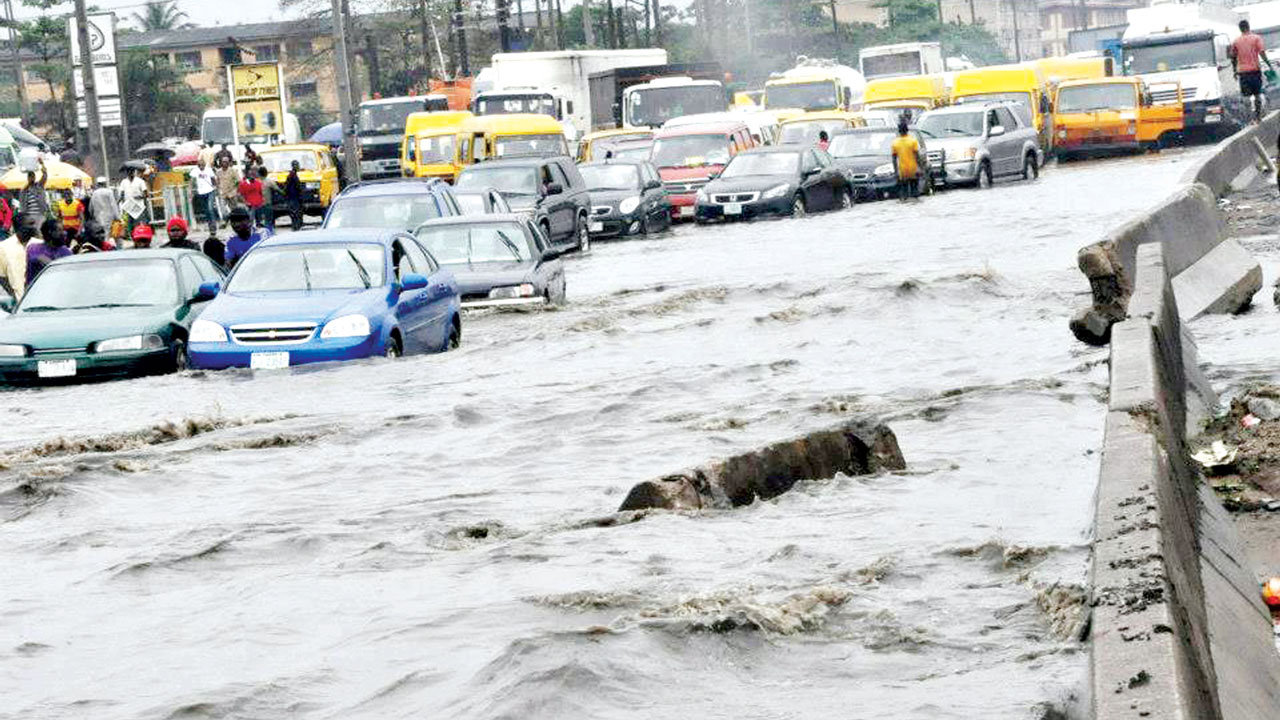 Video: Parts of Lagos Flooded After Protracted Downpour
