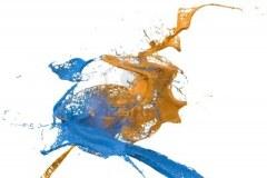 10193873-dwie-plamy-koloru-sciany-w-kolorze-niebieskim-i-zoltym