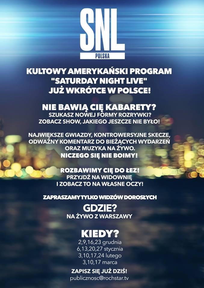 Czy polski SNL będzie lepszy niż kabarety?