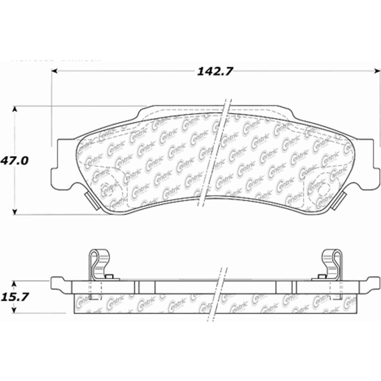 Stoptech 105 Posiquiet Ceramic Pads