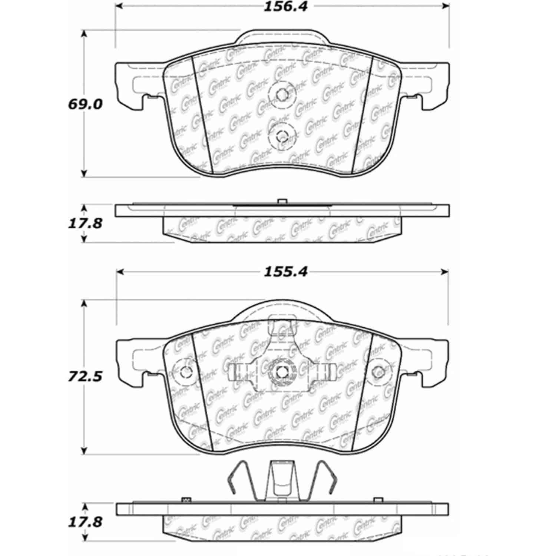 Stoptech 105 Posiquiet Ceramic Pads Volvo