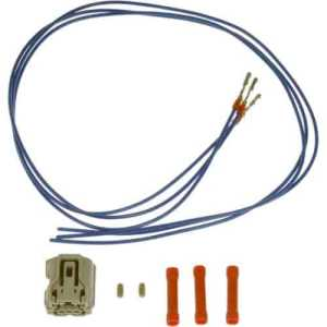 Dorman Products 645744: 3 Wire Pigtail  Male Connector With Female Terminals | JEGS