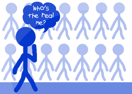 Who is the real blue stickman?