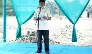 Bupati Asahan Letakkan Batu Pertama Pembangunan Pondok Pesantren Nurul Ikhwan