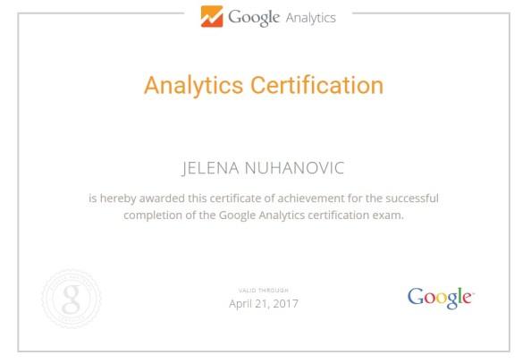 jelena-nuhanovic-google-analytics-certificate