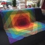 Haakpatroon Regenboog Deken