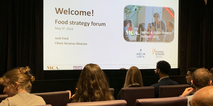 Foodservice Agency - MCA Food Strategy Forum - May 2019