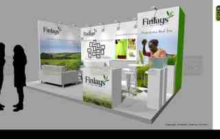 Drinktec trade fair exhibition stand design Finlays Tea