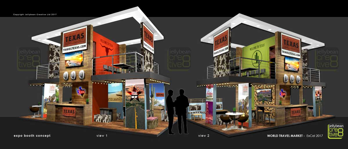 Exhibition Booth Design Uk : Texas tourism exhibition booth designs world travel