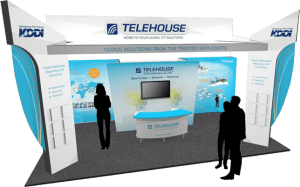 Cloud Expo Europe trade show stand design Telehouse