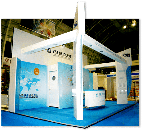 Cloud World Forum trade show stand design Telehouse